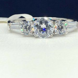 Sterling Silver Cubic Zirconia Ring Size 10 NWOT